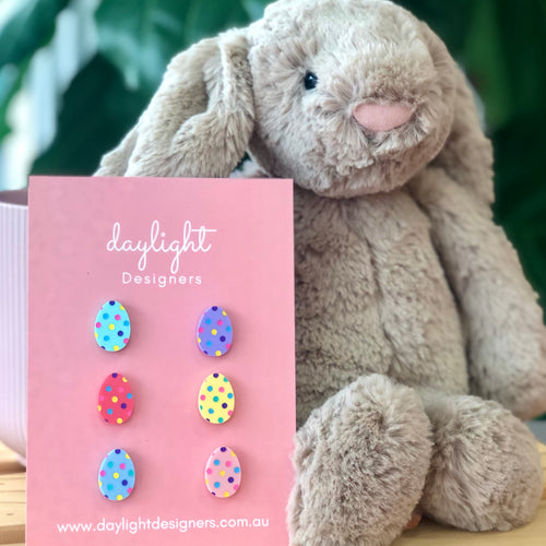 EASTER EGG STUD - 1/2 DOZEN PACK