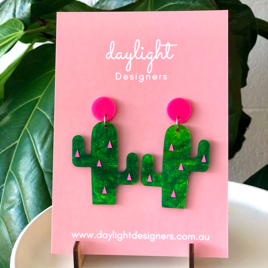 Cactus drops - Lime Green / Hot Pink
