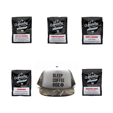 Coffee Sample Pack/SCR TRUCKER HAT-CAMO