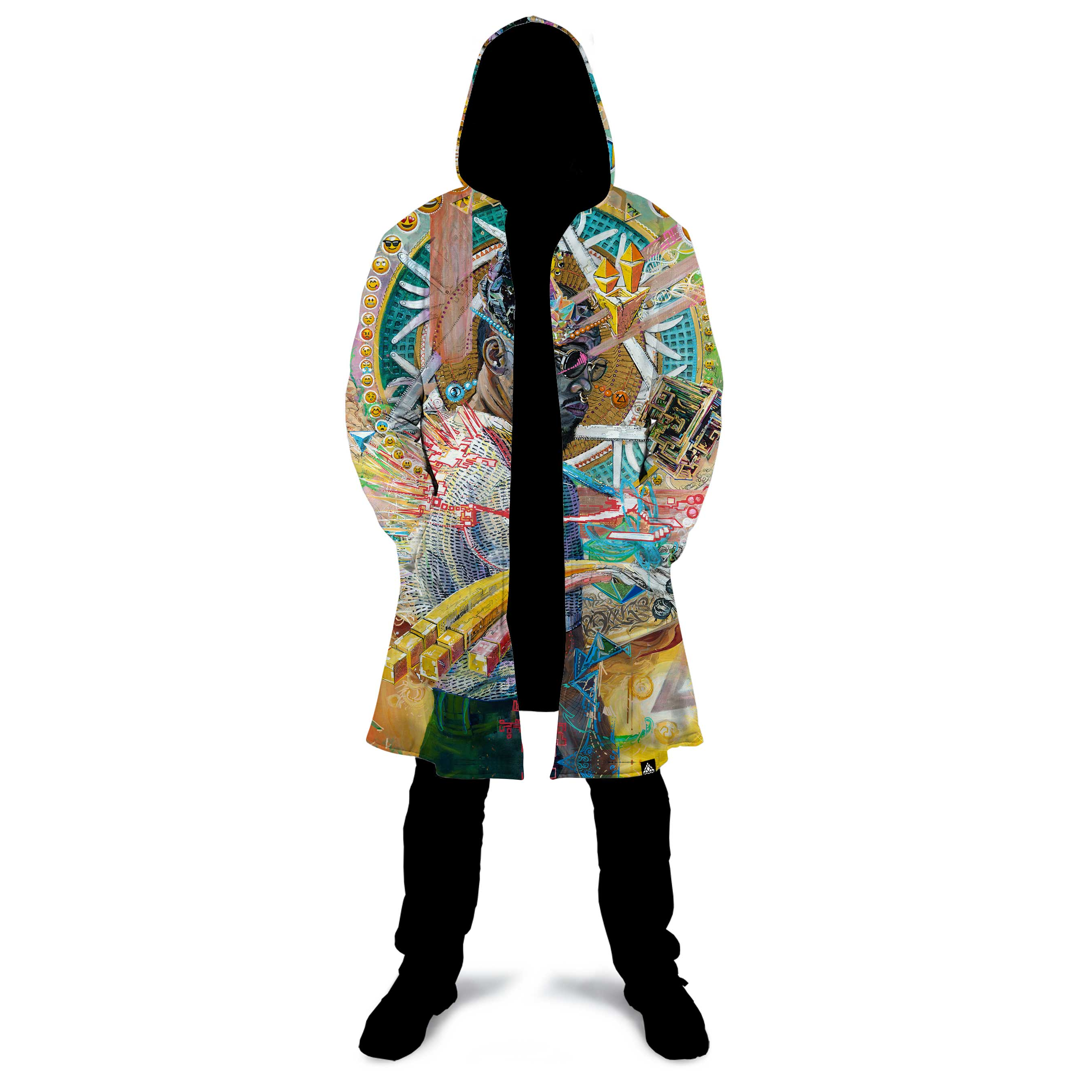 WORD IS WORLD ZIP UP CLOAK