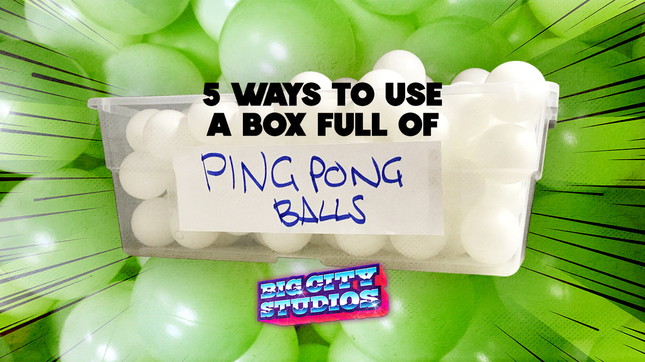 5 Ways to Use a Box Full of Ping Pong Balls