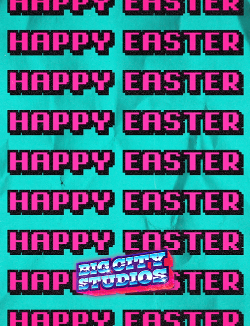 90s Easter Happy Easter Motion Loop