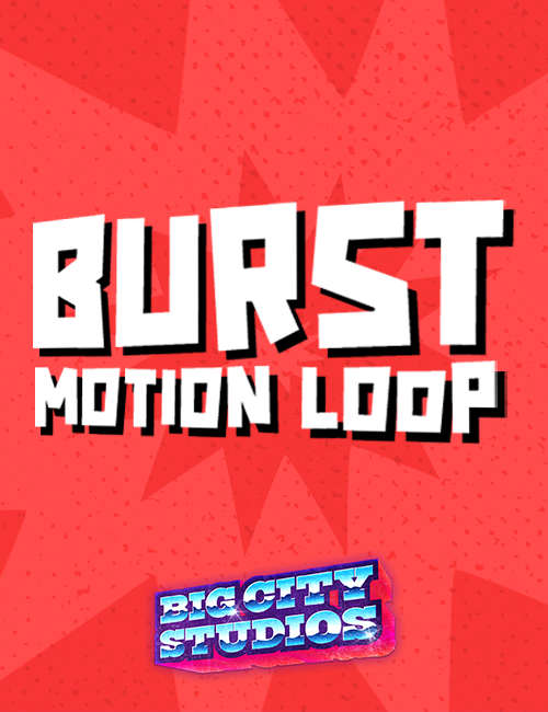 Burst Motion Loop Red
