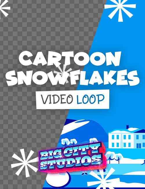 Cartoon Snowflakes Video Loop