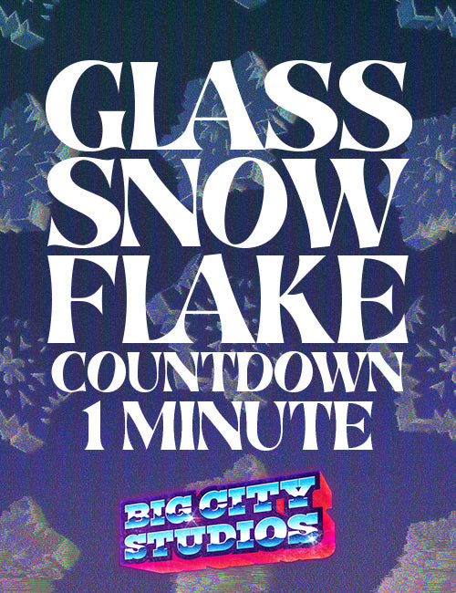 Glass Snowflake Countdown 1 Minute 02