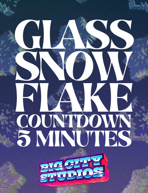 Glass Snowflake Countdown 5 Minutes 02