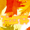 Happy Thanksgiving Leaves Square Motion Loop