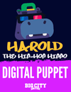 Harold the Hippo Digital Puppet
