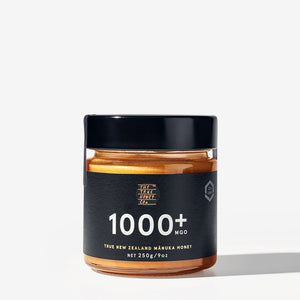 True Honey Co. 1000+ MGO 250g Manuka Honey Jar