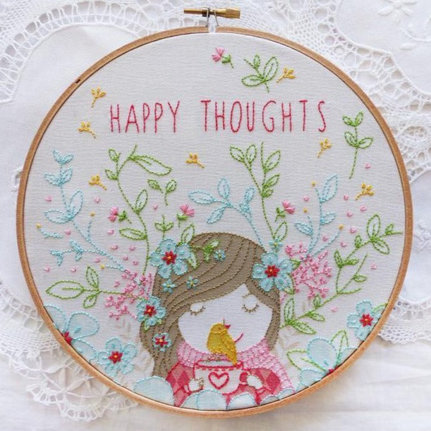 "Happy Thoughts - ערכת רקמה 30 ס""מ"