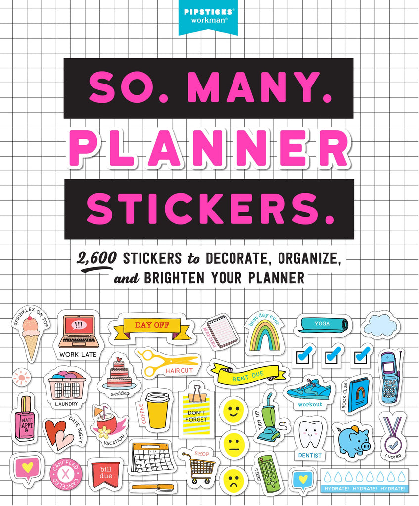 So. Many. Planner Stickers.: שחור