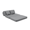 by KlipKlap 3 Fold Sofa XL Soft - grey - guest bed