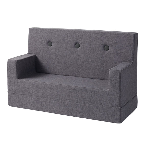 by KlipKlap Kids Sofa folded - Blue grey w. grey