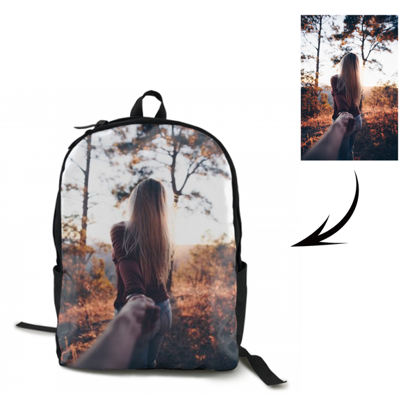 Custom Couple's Photo Backpack