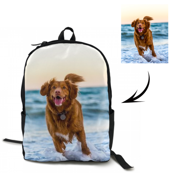 Custom Dog Photo Backpack
