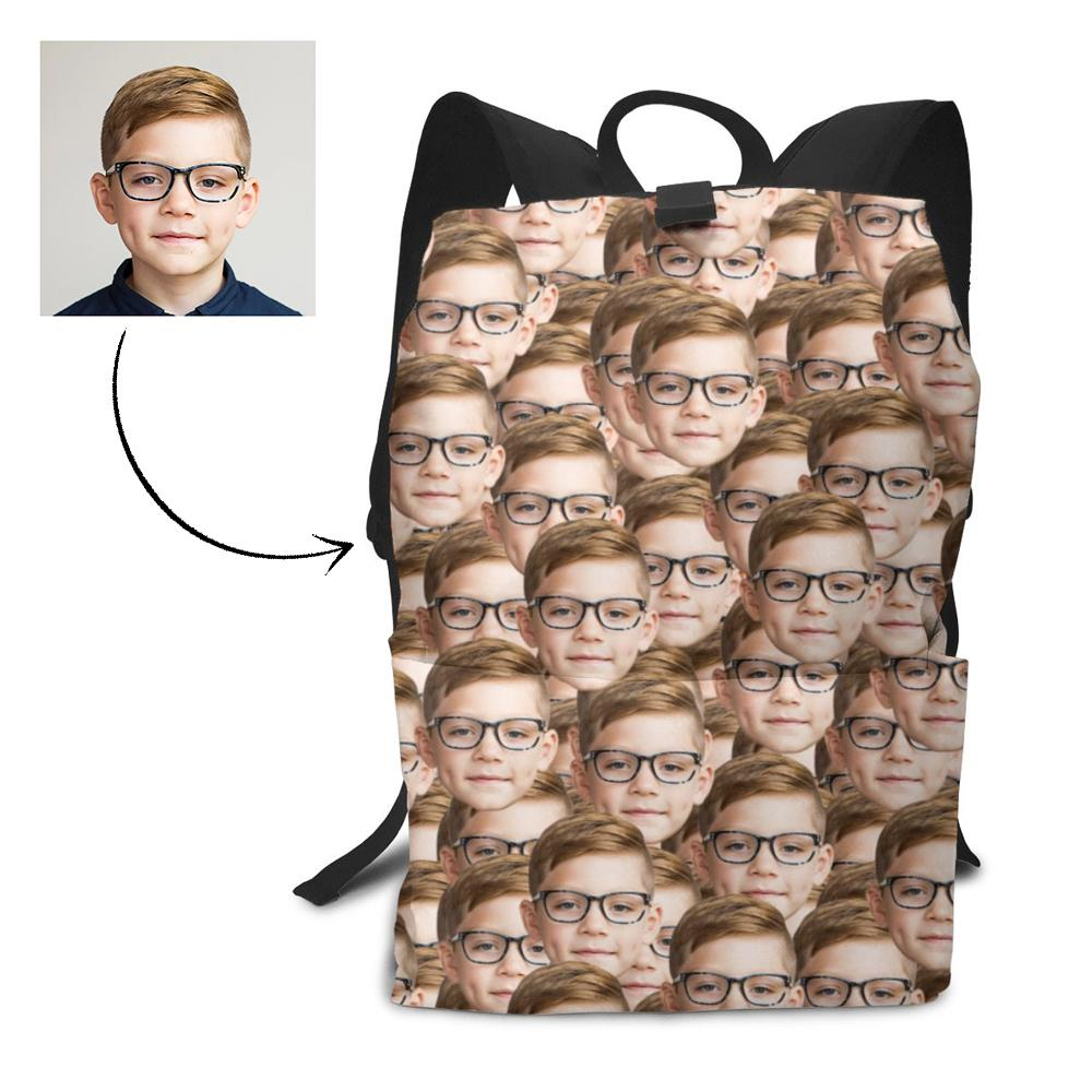 Personalized Mash Face Photo Backpack