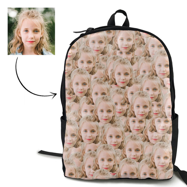 Custom Mash Face Photo Backpack
