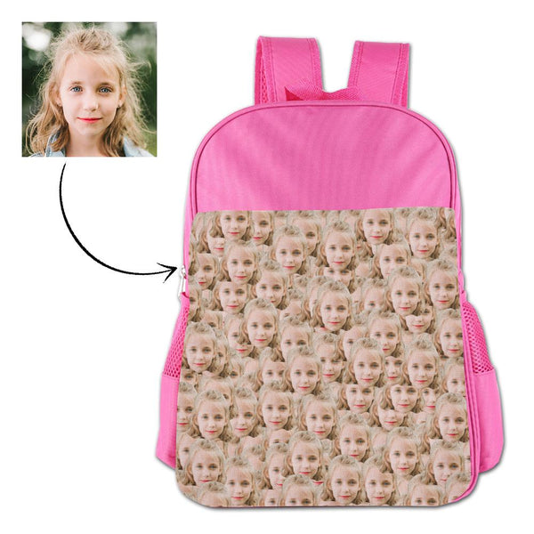 Personalized Mash Face  Photo School Backpack For Kids
