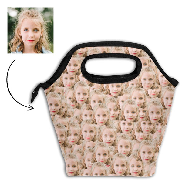 Personalized Mash Face Photo Insulation Lunch Bag