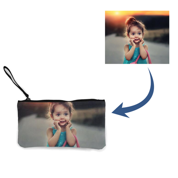 Personalized Photo Pocket Money Bag