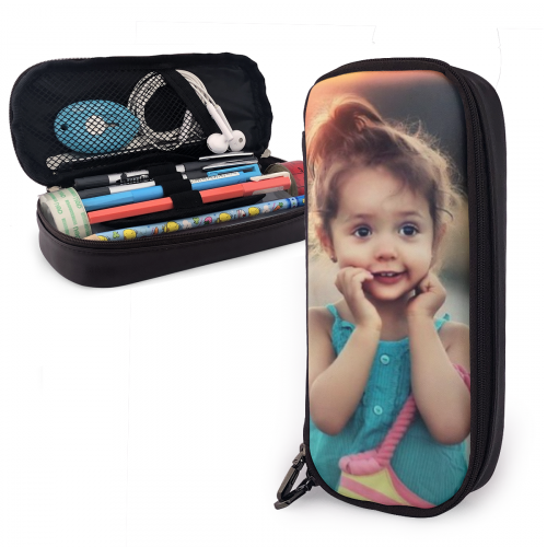 Personalized Leather Photo Pencil Case