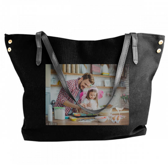 Personalized Photo shoulder bag, Canvas Tote Bags