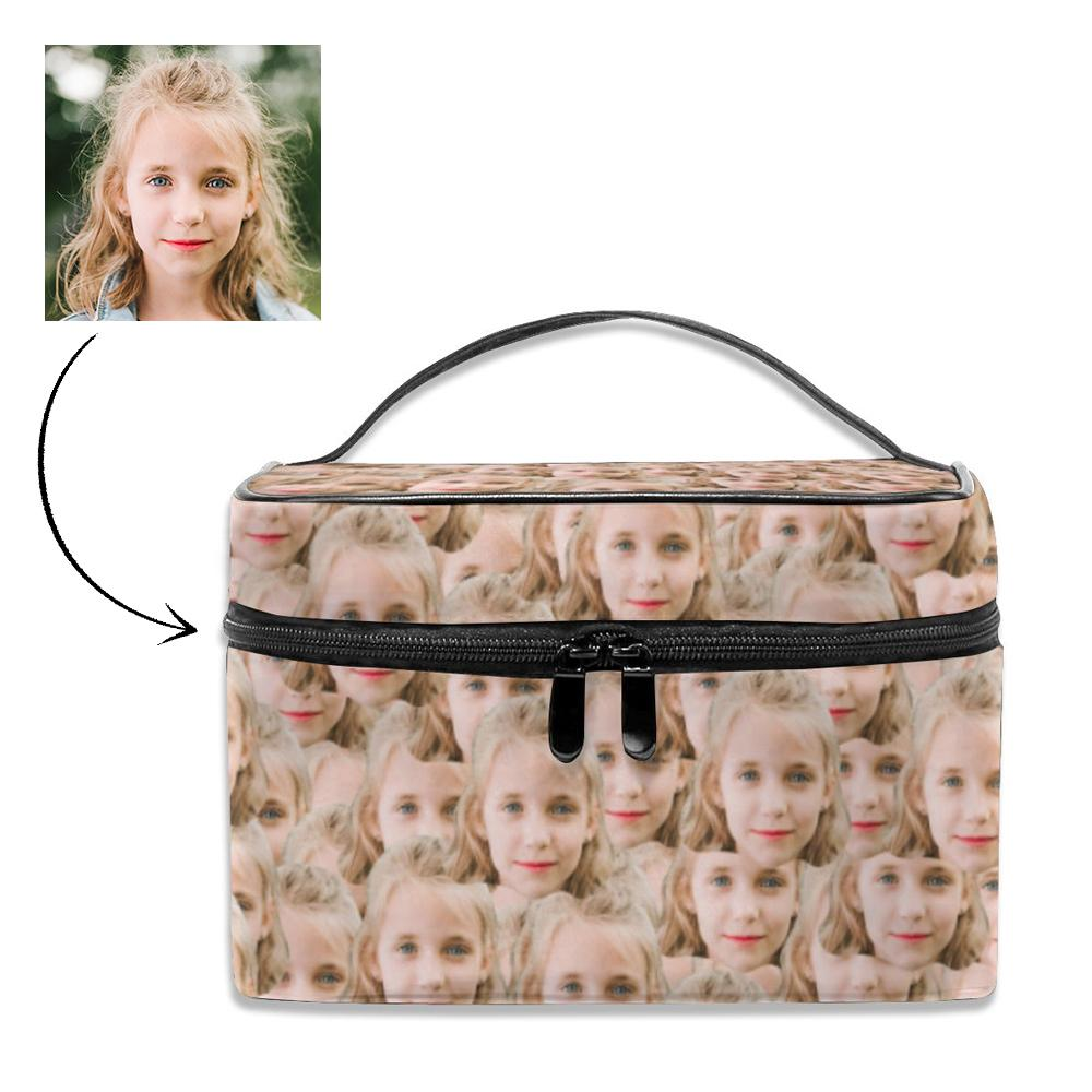 Personalized Mash Face Storage Bag,  Photo Cosmetic bag