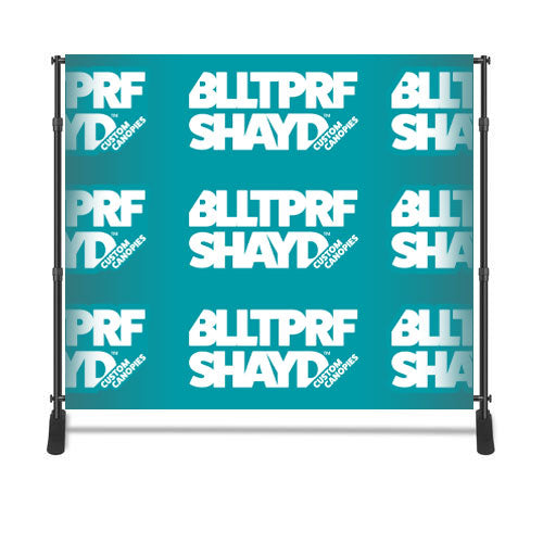 Backdrop With Fabric Banner