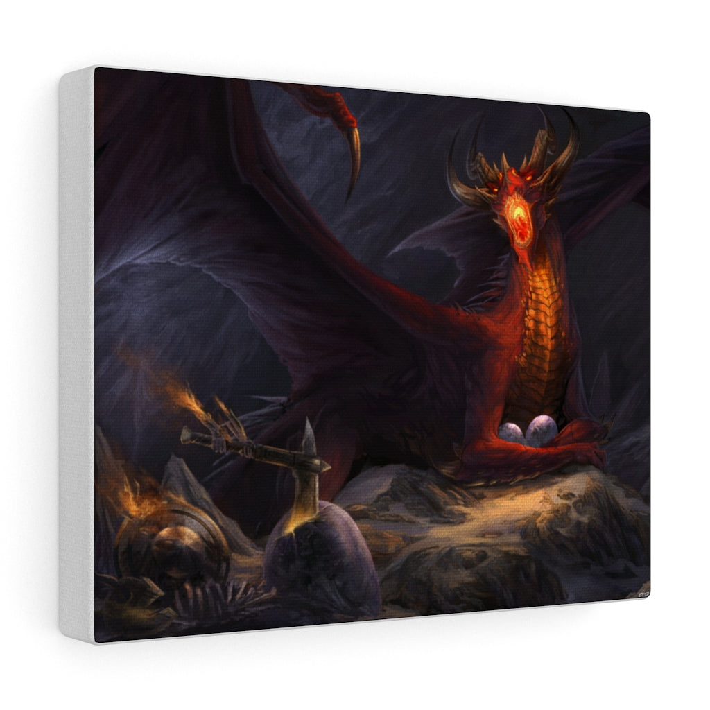 """Dragon's Den"" canvas - Rey's Dragon"