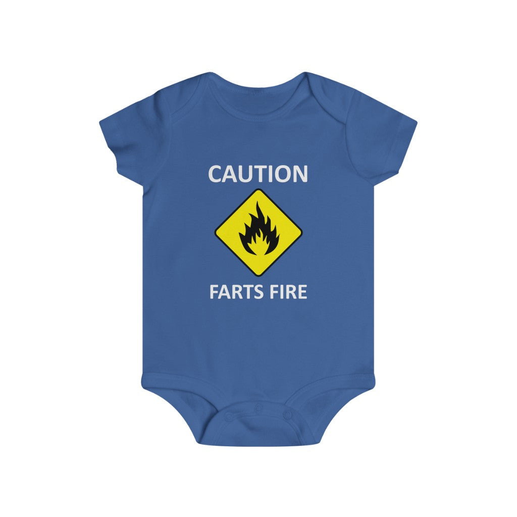 Caution Farts Fire bodysuit - Rey's Dragon