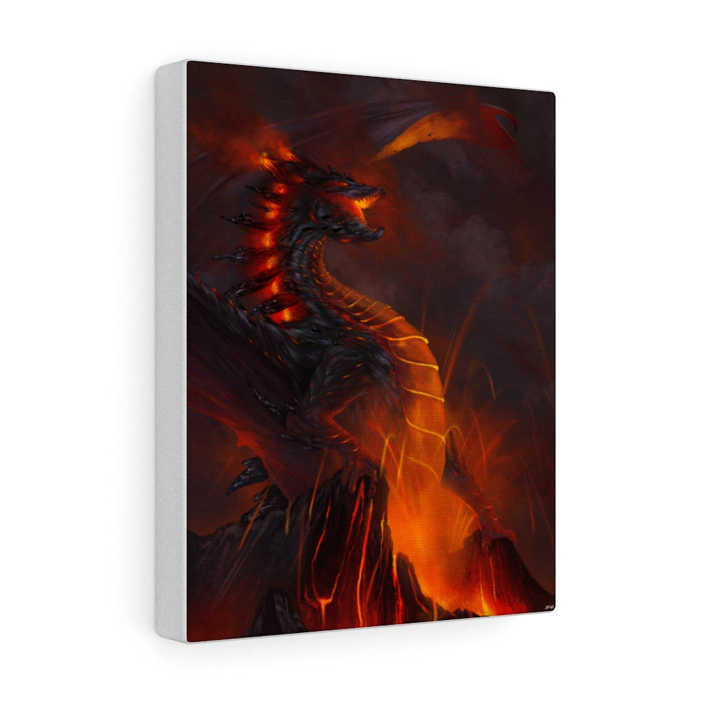 """of Fire and Stone"" canvas - Rey's Dragon"