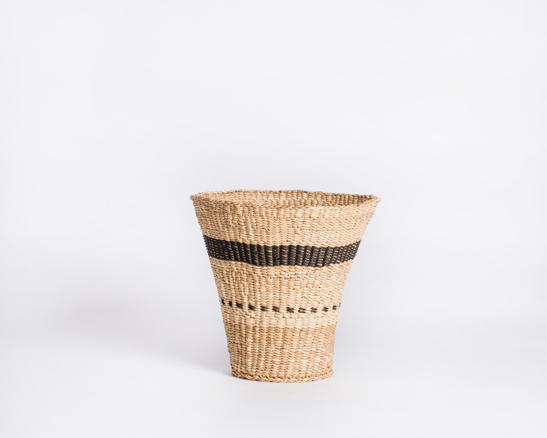Xhosa Reed Basket - Black Stripe