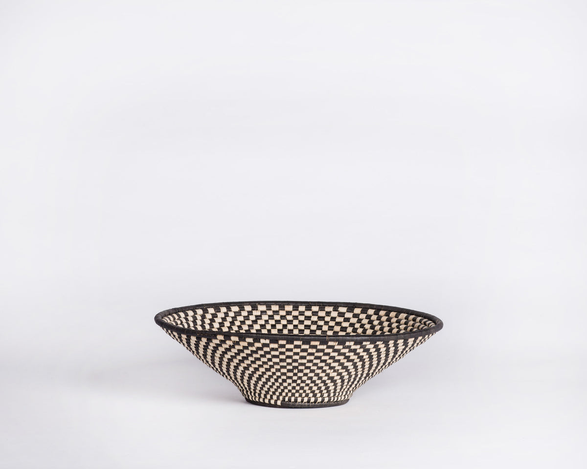 Checkered Bowl Basket