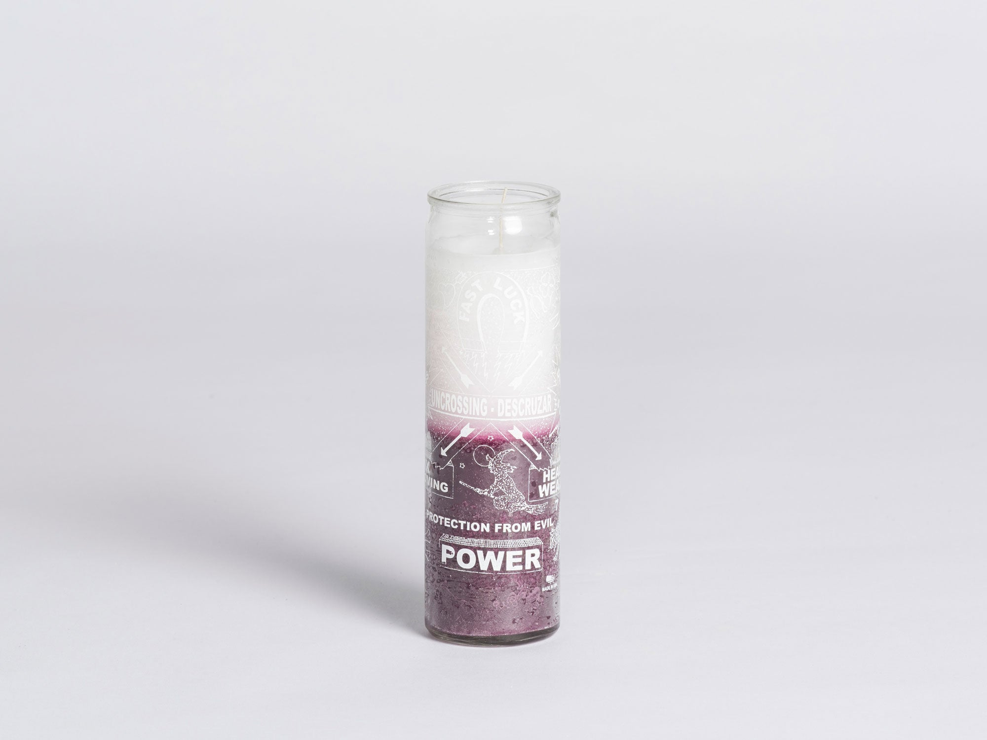 W PICO MIRACLE CANDLE - Uncrossing (Purple / White)