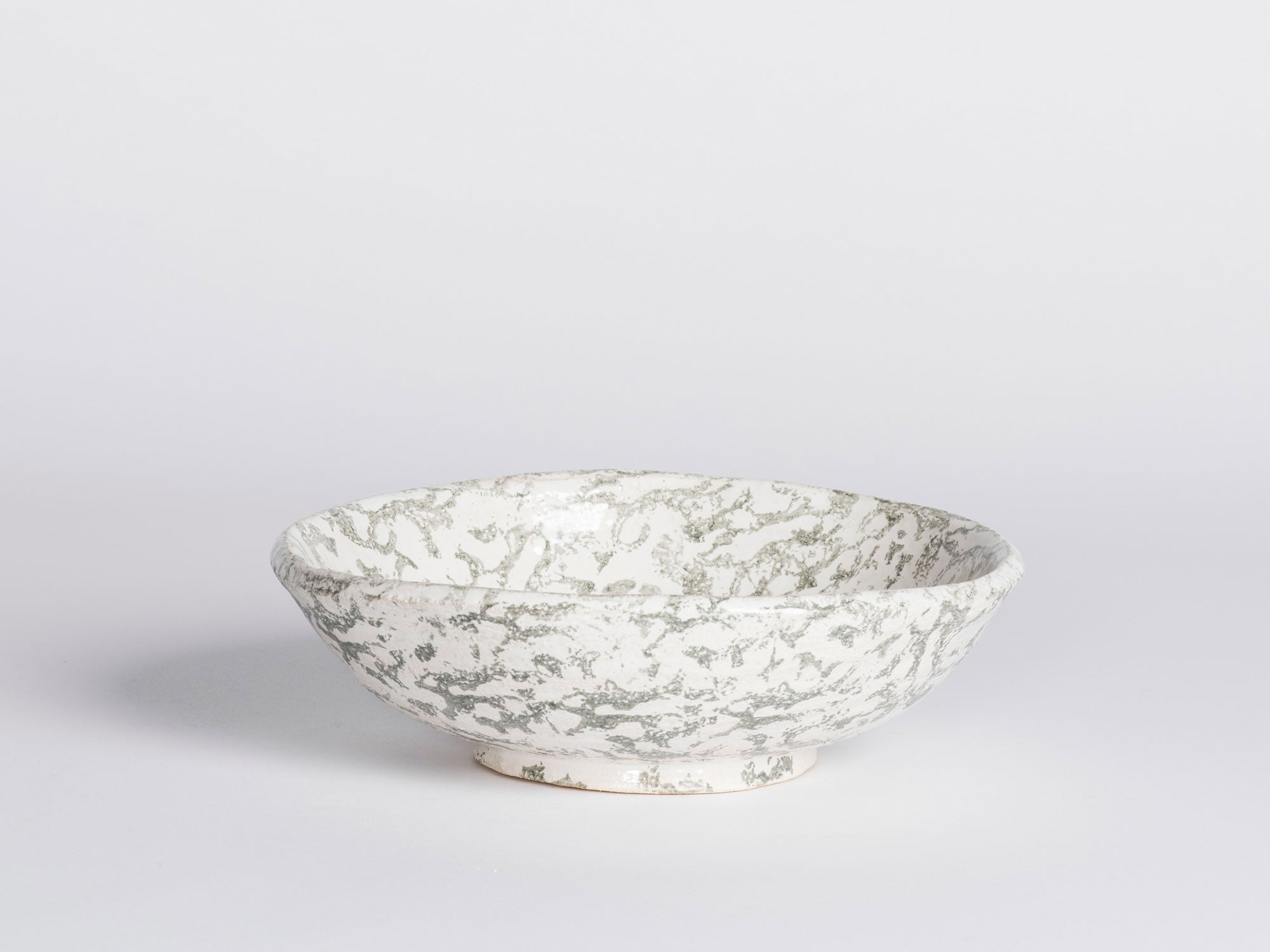 Morgan Peck Bowl - Green Spongeware