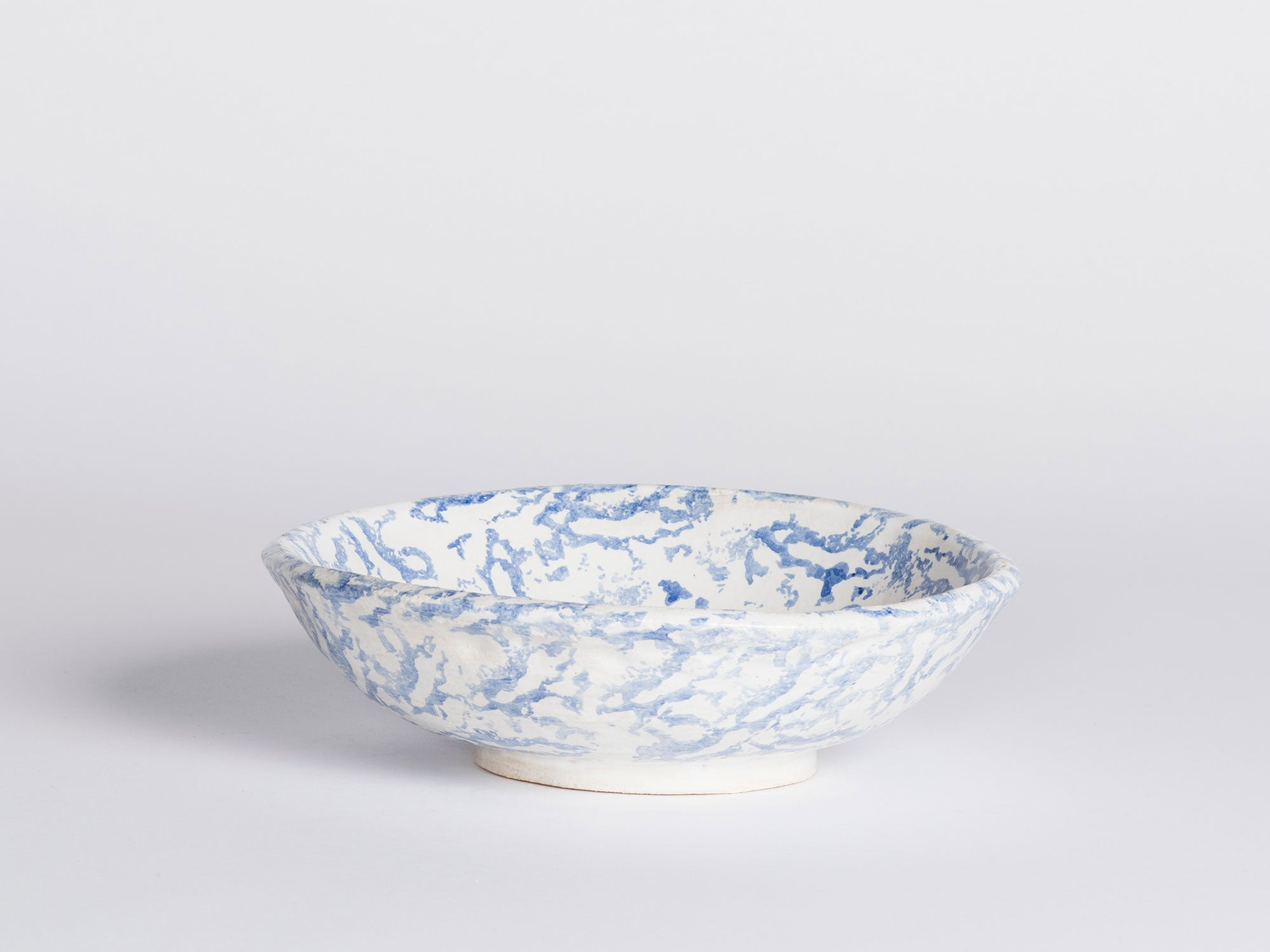 Morgan Peck Bowl - Blue Spongeware