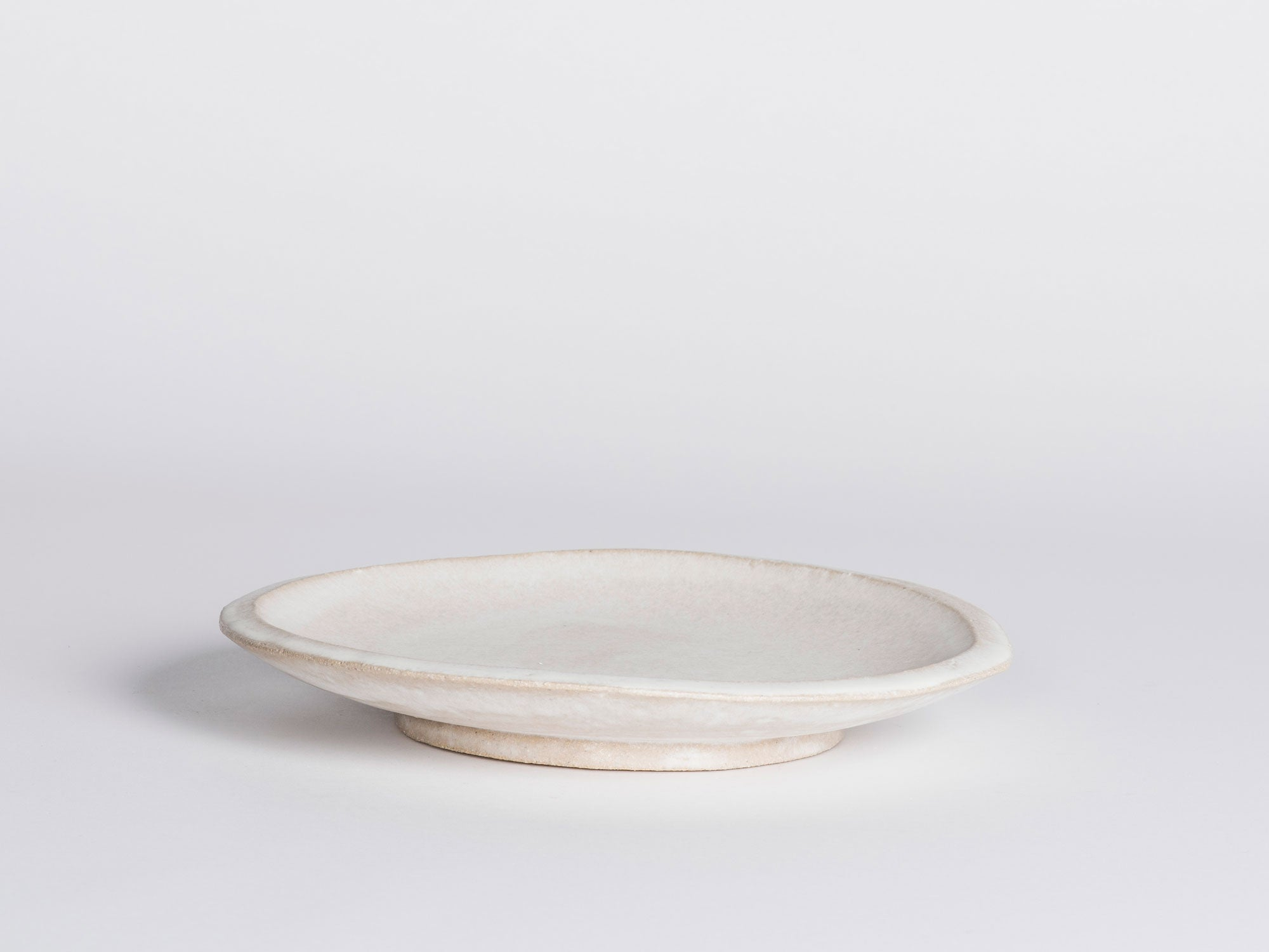 Morgan Peck Round Platter - Frosted White