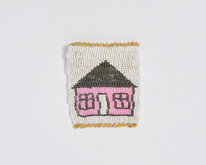 Beaded 'House' Coaster 006