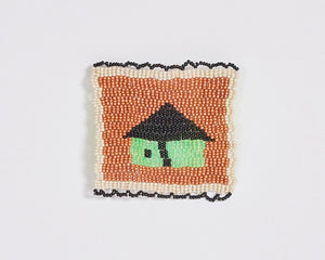 Beaded 'House' Coaster 009
