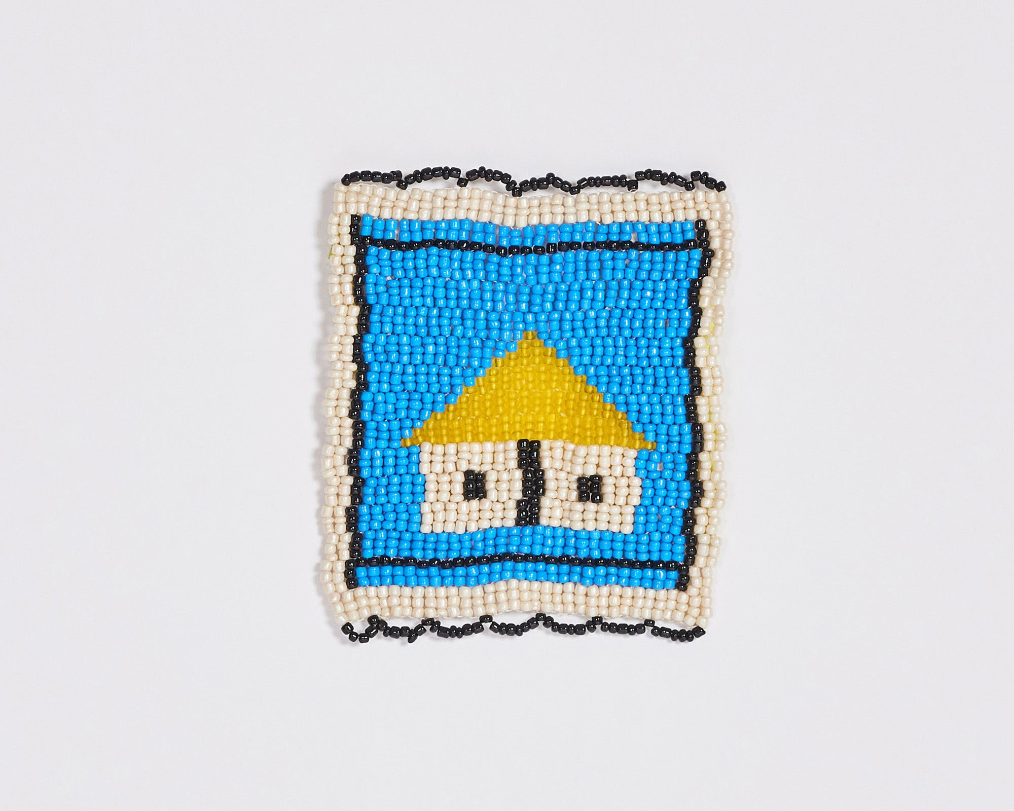 Beaded 'House' Coaster 010