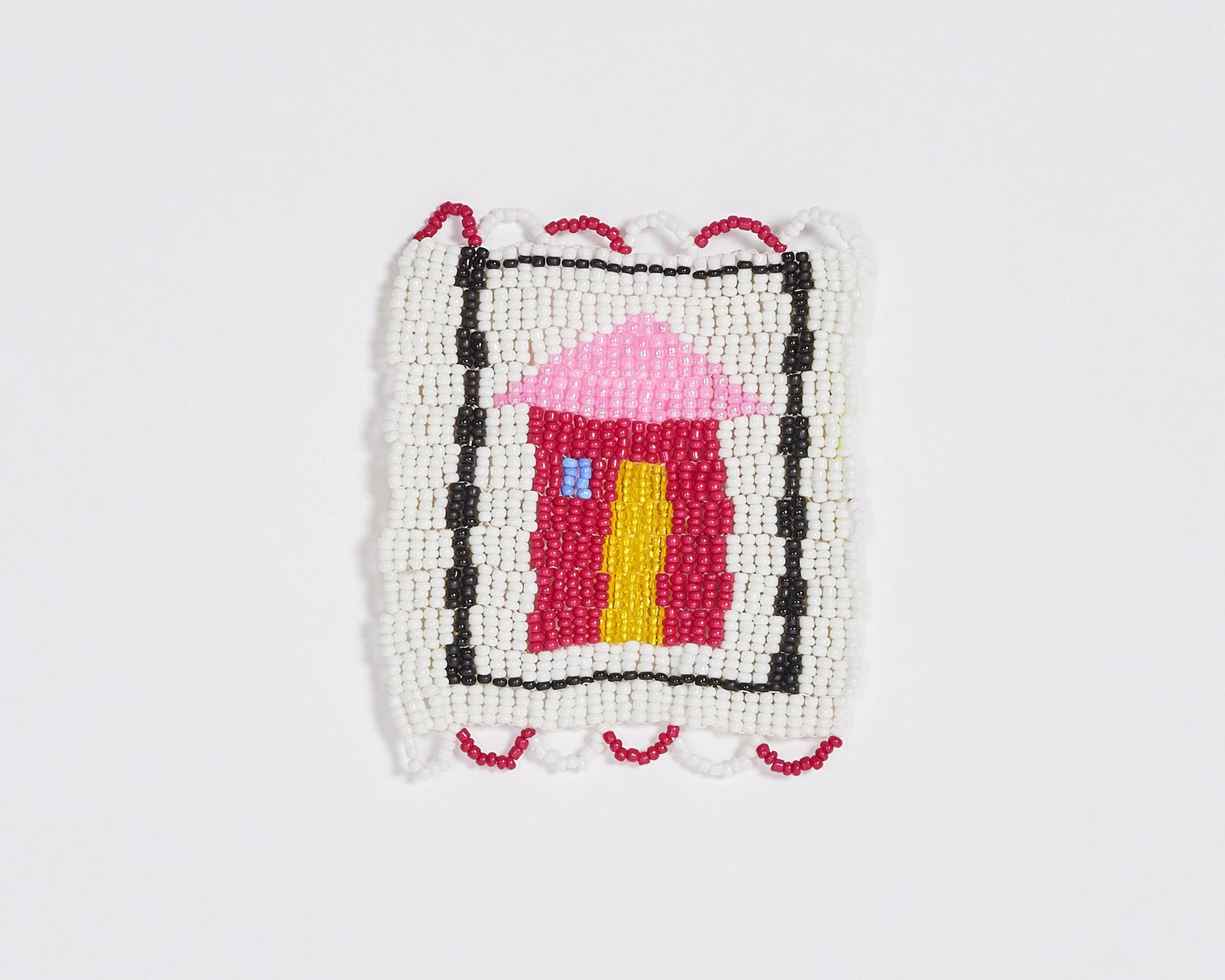 Beaded 'House' Coaster 011