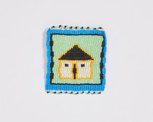 Beaded 'House' Coaster 017