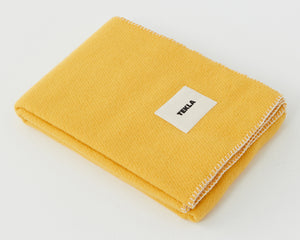 Telka Wool Blanket - Sunset Yellow