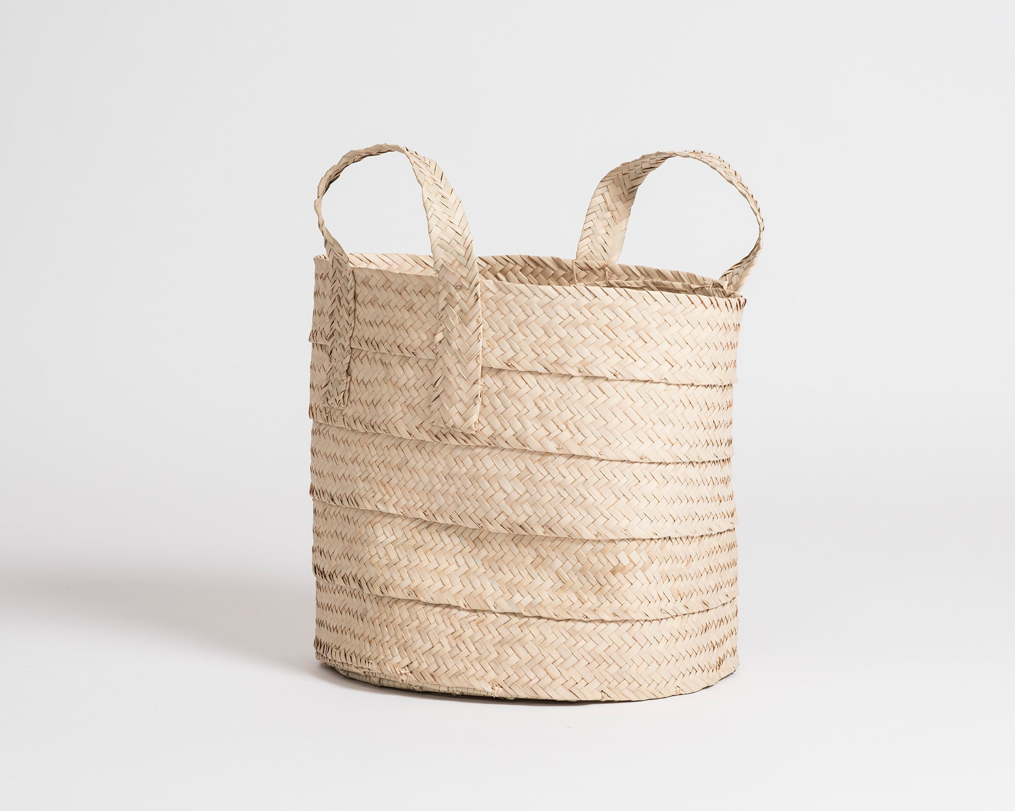 Laundry Basket with Handles - Natural