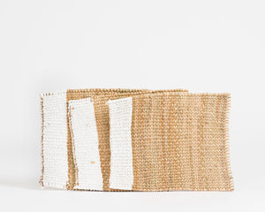 Xhosa Reed Table Mat - White Stripe