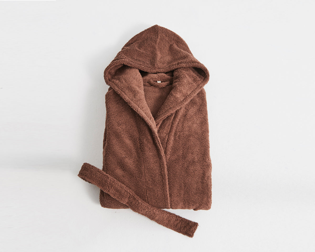 Tekla Organic Cotton Bathrobe - Kodiak Brown