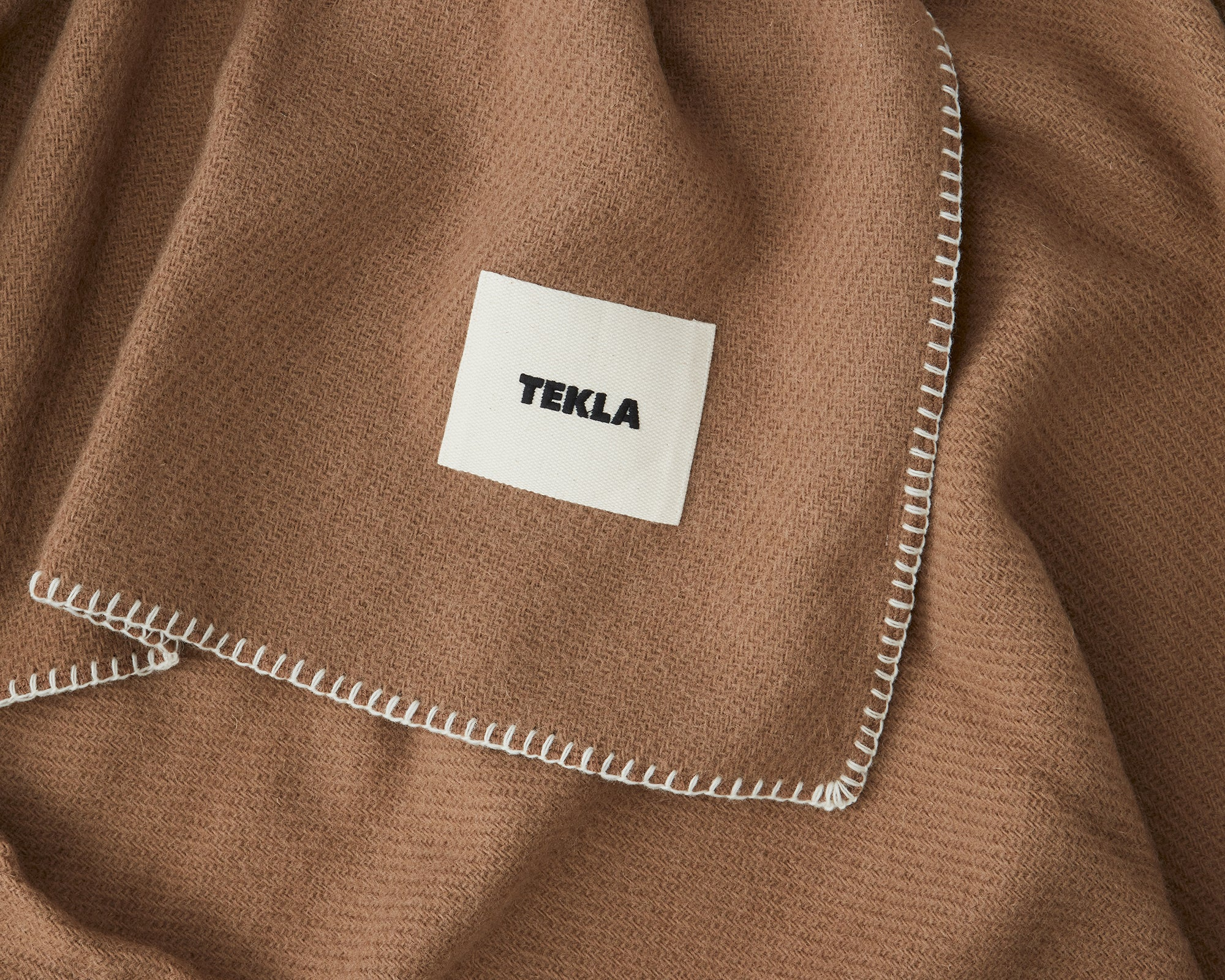 Telka New Wool Blanket - Hazel Brown