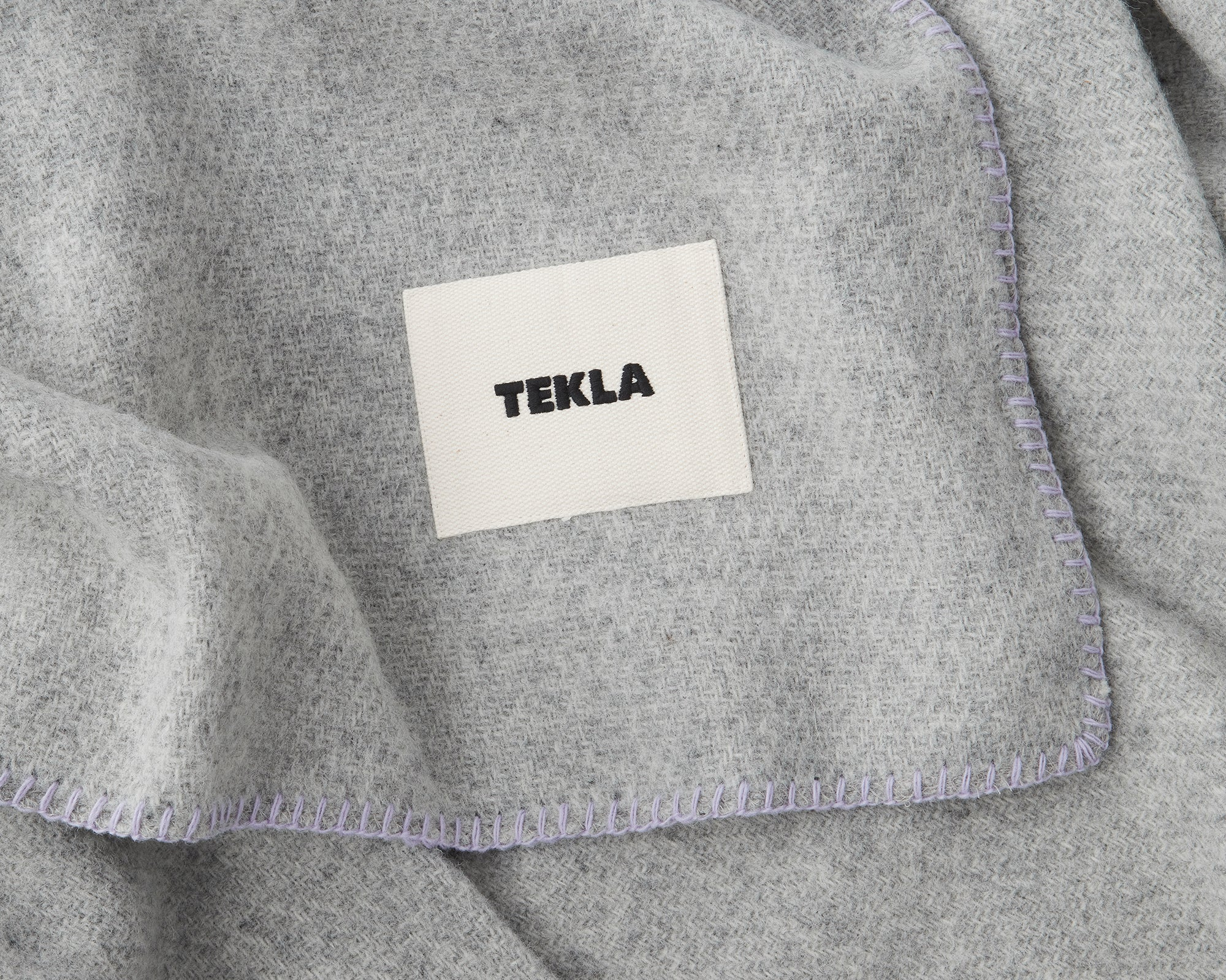 Telka New Wool Blanket - Pebble Grey