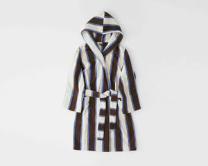 Tekla Organic Cotton Bathrobe - Cocoa White
