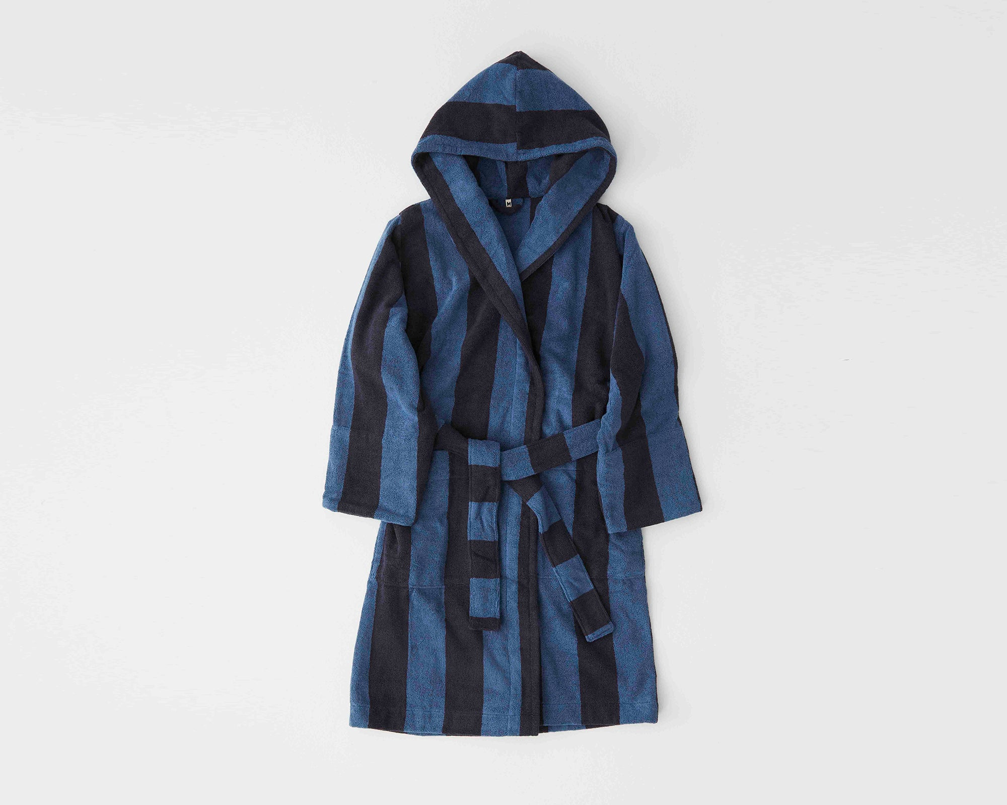 Tekla Organic Cotton Bathrobe - Dusty Navy
